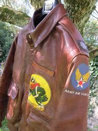 A2 Aaf Shoulder Decal Leather Flight Jacket Flight Jacket Flying Jacket
