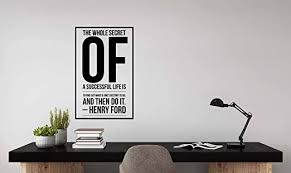 Amazon Com Henry Ford Quote Wall Decals Motivation Wall Decals For Workplace Office Leadership Quote The Whole Secret Of A Successful Life Is To Find Out What Is One S Destiny To