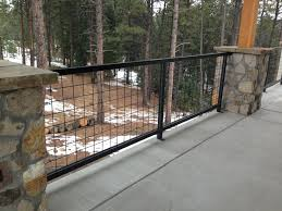 Hog Wire Deck Railing Astonishing On Modern Home Decor Ideas On Deck Railings Wire Deck Railing Modern Fence
