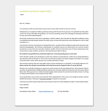 permission request letter format with