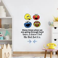Design With Vinyl Sesame Street Hard Times Vinyl Wall Decal Wayfair