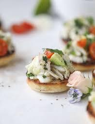Crab Avocado Salad on Buttered Garlic Toast