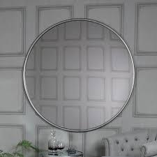 design ideas silver wall mirror