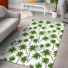 palm tree pattern print area rug in