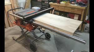 Table Saw Extension Wing Youtube