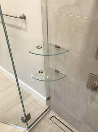 shower storage shelves or niches