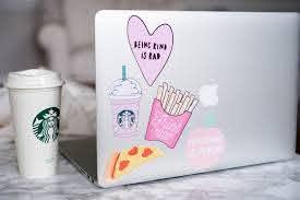 Diy Millennial Pink Laptop Stickers Tutorial How To Use Inkjet Printable Adhesive Vinyl