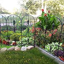 Amagabeli Decorative Garden Fence Outdoor Coated Metal Rustproof 32in X 10ft Landscape Wrought Iron Wire Border Folding Patio Fences Flower Bed Fencing Barrier Section Panels Decor Picket Edging Black Amazon Sg Lawn
