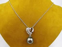 heart pendant chain necklace white