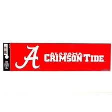 Alabama Crimson Tide Bumper Sticker 11 X 3 Football Car Truck Bama D My Team Depot