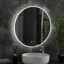 alaska round illuminated mirror amor