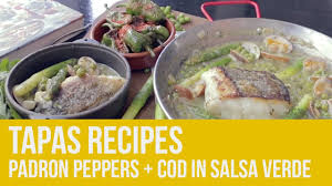 Padron Peppers + Cod in Salsa Verde ...