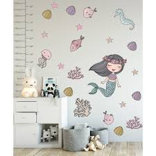 Shop Mermaid Ariel Removable Wall Decal Overstock 30920381