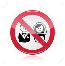 No Marriage, No Wedding, No Love Warning Red Sign Royalty Free ...