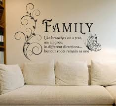 Inspirational Quotations For The Home Art Decals Vinyl Wall Stickers Removable Mural Wall Art Fo Family Tree Wall Art Wall Stickers Living Room Family Wall Art
