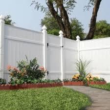 Veranda Windham 6 Ft H X 6 Ft W White Vinyl Fence Panel 73002103 The Home Depot Vinyl Fence Panels Fence Wall Design Fence Design