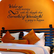 Amazon Com Valuevinylart Wake Up Every Morning With The Thought That Something Wonderful Is Going To Happen Wall Decal Black 30 W X 15 H Home Kitchen