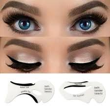 eyeliner stencil eyeshadow guide smokey