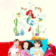 The Little Mermaid Ariel Wall Stickers The Treasure Thrift