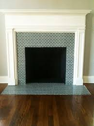 tiling over brick fireplace surround
