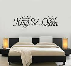 Vinyl Wall Decal Queen King Lettering Crown Bedroom Decor Stickers Mural G1179 Ebay