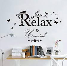 Amazon Com Smydp Birds Singing On Tree Branch Wall Mural Poster Relax Unwind Wall Quote Home Wall Decal Sticker Living Room Bathroom Decor Art Baby