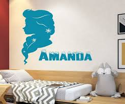 Disney Princess Frozen Custom Name Wall Decals For Girls Etsy