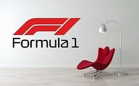 Formula 1 F1 Logo Wall Decal Car Racing Vinyl Art Mural Sticker In 2020 Logo Wall Wall Decals Wall Stickers Home Decor
