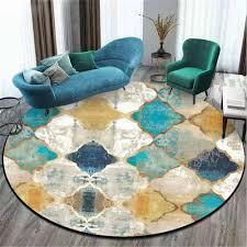 Mega Sale 811a13 Area Rug For Living Room Vintage European Moroccan Style Round Carpet Carpet Kids Room Bedroom Rug Christmas Rug 100 Polyester Cicig Co