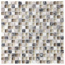 stone and glass square mosaic tile