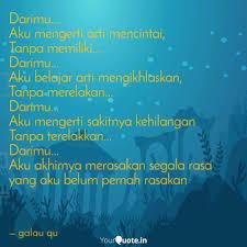 darimu aku mengerti ar quotes writings by galau qu