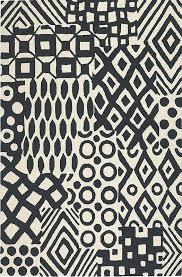 black and white rug modernrugs com
