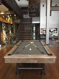industrial pool table weathered gray