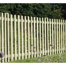 Planed Smooth Picket Fence With Round Tops 1830mm X 1200mm Worcester Timber Products