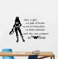 Wonder Woman Wall Decal Superhero Quote Vinyl Sticker Comics Etsy