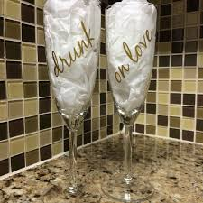 Vinyl Decals For Champagne Glasses Champagne Glasses Wedding Glasses Wedding Champagne Glasses