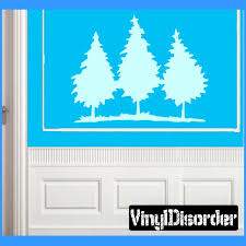 Landscape Tree Line Wall Decal Vinyl Decal Car Decal Ns015 Vinyl Wall Decals Car Decals Vinyl Wall Decals