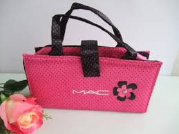 mac cosmetics whole pink bag with