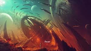 scifi planet photomanition e 4k