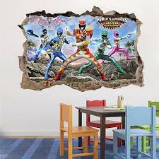 Power Rangers Dino Super Charge Smashed Wall Decal Removable Wall Sticker H207 Ebay