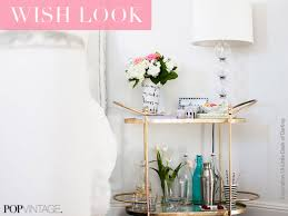 style a bar cart in any room pop vintage