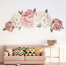 Beautiful Peony Flowers Wall Sticker Vinyl Self Adhesive Floral Wall Art Watercolor Stickers Living Room Bedroom Home Decor Wall Stickers Wall Word Stickers Wallpaper Decal From Eshop2019 3 76 Dhgate Com