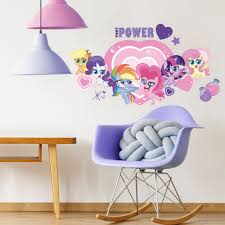 Zoomie Kids My Little Pony Let S Get Magical Giant Wall Decal Wayfair