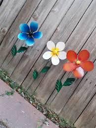 metal flower garden stake garden