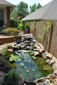 10 Lovely Bamboo Fence Ideas For Your Garden Bamboo Fenceideas Garden Ponds Backyard Pond Landscaping Fish Pond Gardens