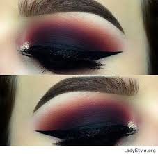 red and black eye makeup style ladystyle