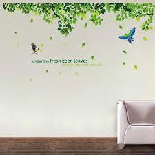 Decor Kafe Fresh Green Leaves Wall Decals Two Birds Vinyl Wall Decals Butterfly Decal Wall Decals At Rs 99 Piece Akashwani Colony Kota Id 19622068430