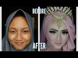 tutorial makeup pengantin before after