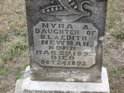 Myra Addie Newman (1892-1892) - Find A Grave Memorial