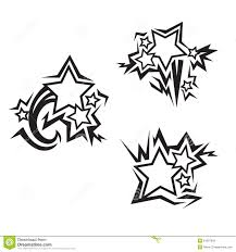 Gwiazda Tatuaze Ilustracja Wektor Ilustracja Zlozonej Z Abstrakt